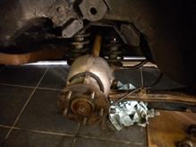 Jaguar XJS before coated with Aquasteel rust converter