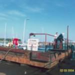 pontoon coated using Aquasteel rust converter