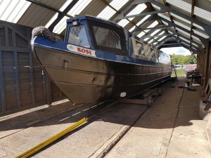 narrowboat Rose finished aquasteel rust converter treatment