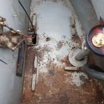 narrowboat prior to aquasteel rust treatment