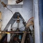 narrow boat engine room treatment with Aquasteel rust converter