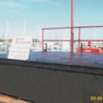 pontoon coated using Aquasteel rust converter