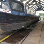 narrowboat Rose gets aquasteel rust converter treatment